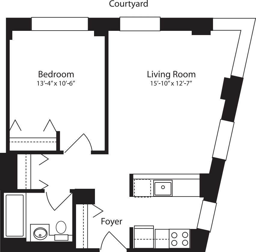 Plan X, floors 4-10