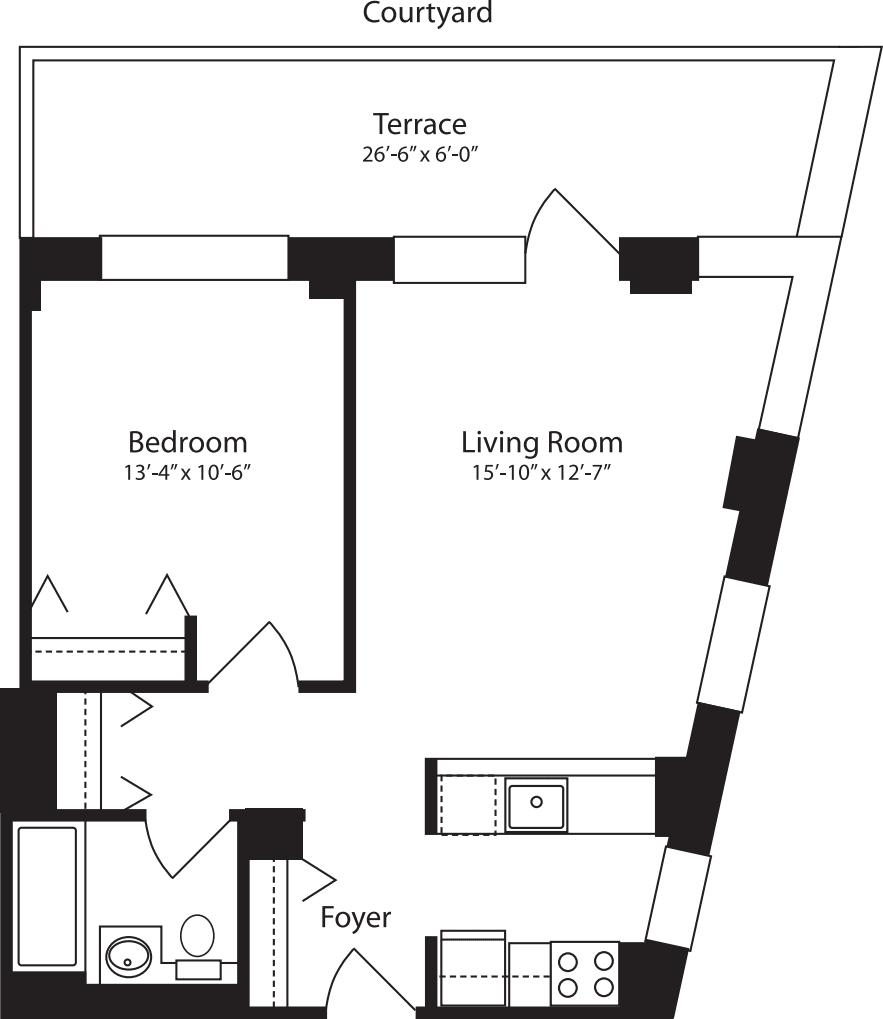 Plan X, floor 3
