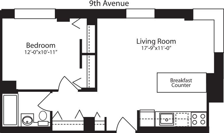 Plan L, floors 12-15