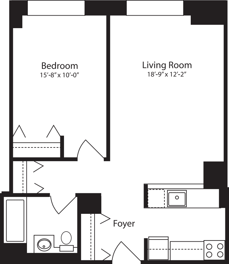 Plan V, floors 4-10