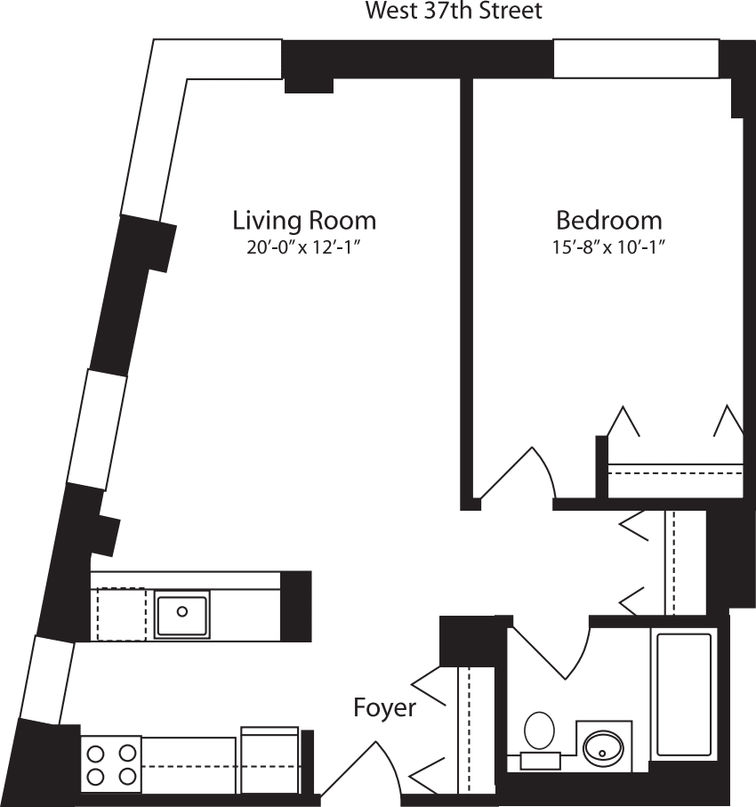 Plan W, floors 3-10