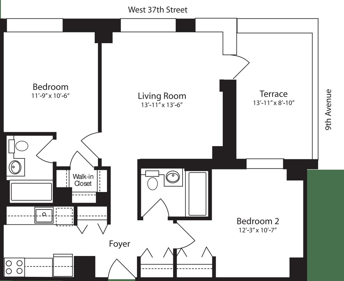 Plan R, floor 11