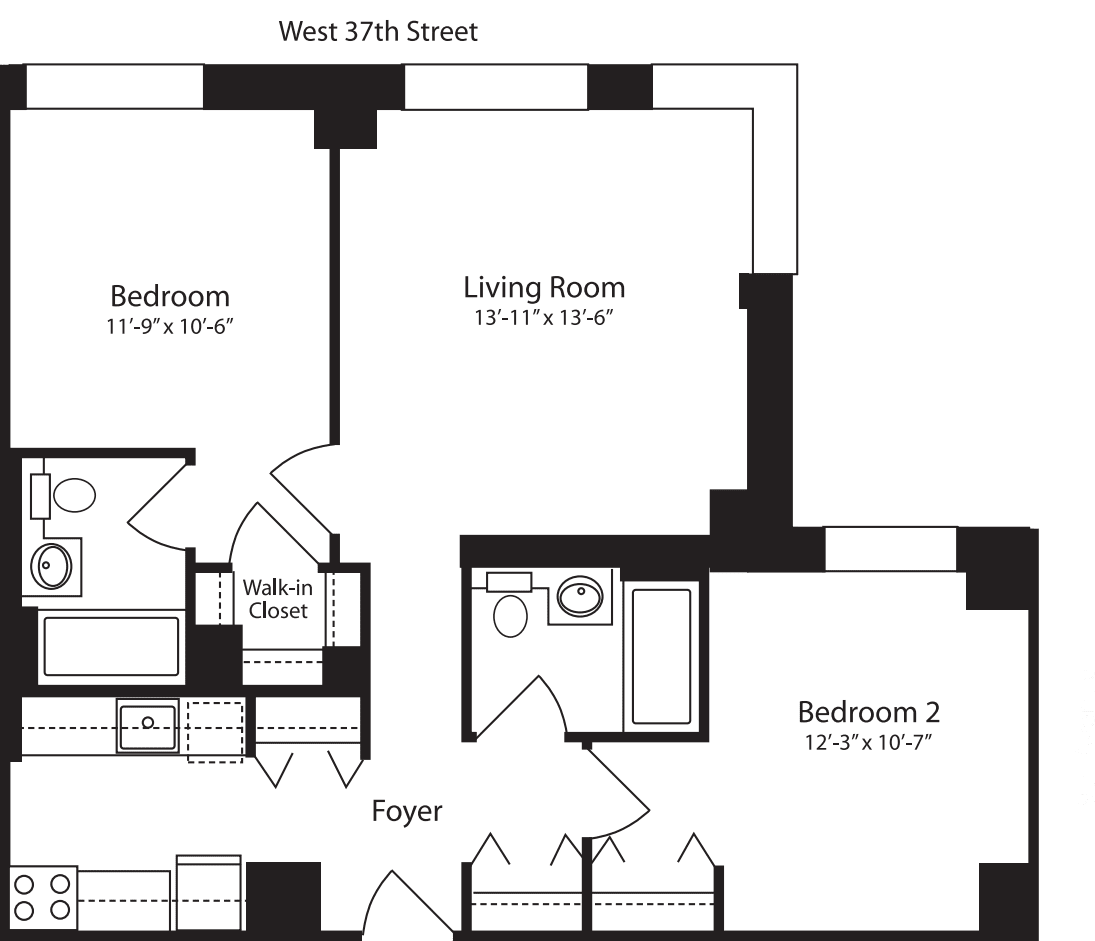 Plan R, floor 12