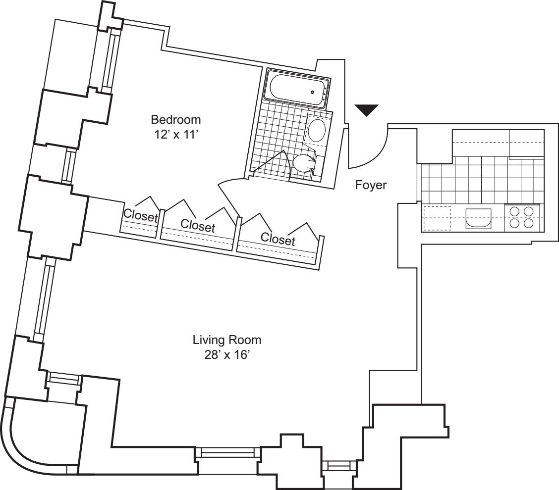 1 Bedroom I - Floors 18 - 19