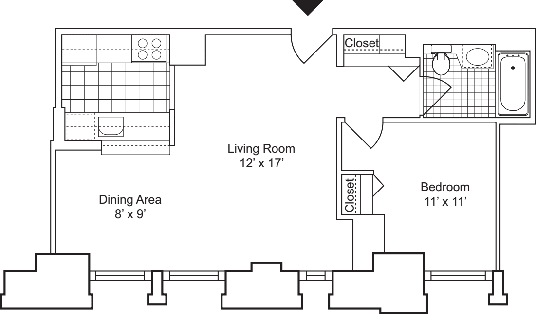 1 Bedroom C