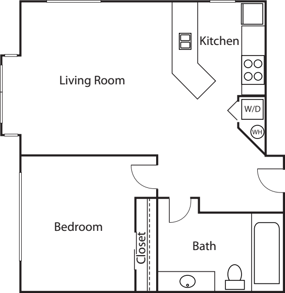 1 Bedroom Court- 656