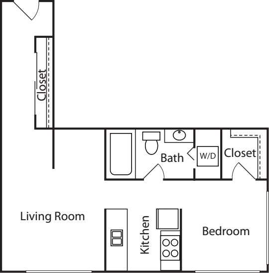 1 Bedroom Court- 668