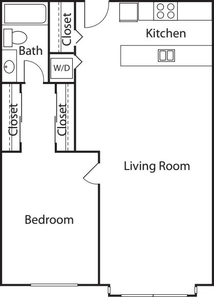 1 Bedroom Court- 682