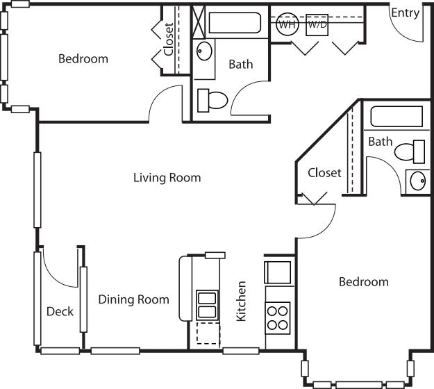 2 Bedroom Court