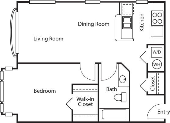 1 Bedroom Court- 659
