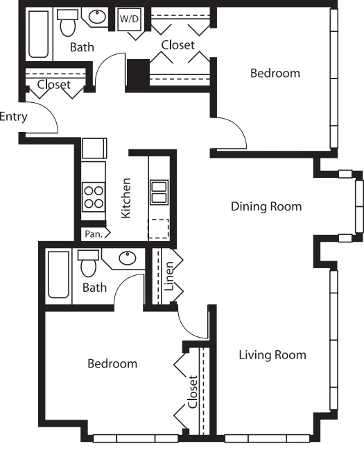 2 Bedroom Tower