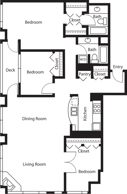 3 Bedroom Tower