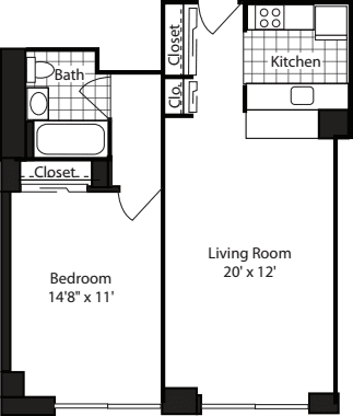One Bedroom-600