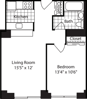 One Bedroom: 215