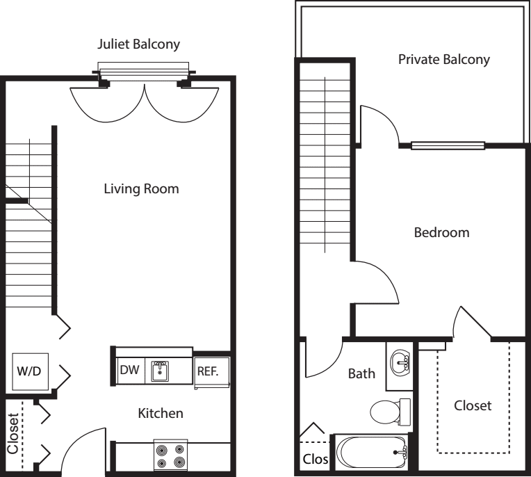 1 Bedroom TH -837