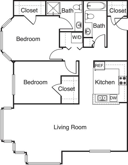 2 Bedroom -1117