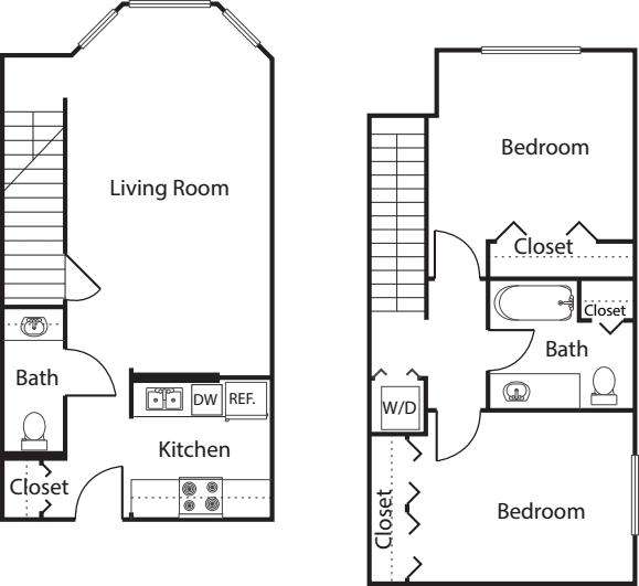 2 Bedroom TH -997