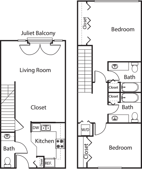 2 Bedroom TH -1181