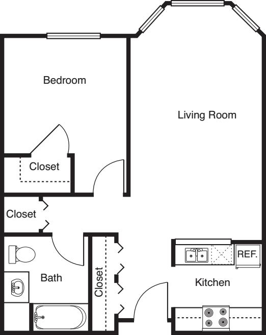 1 Bedroom -686