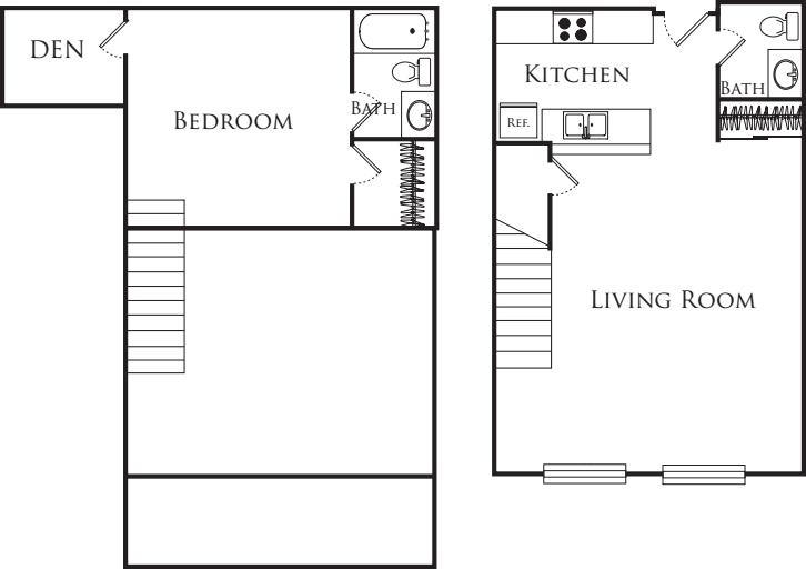 One Bedroom Loft 344