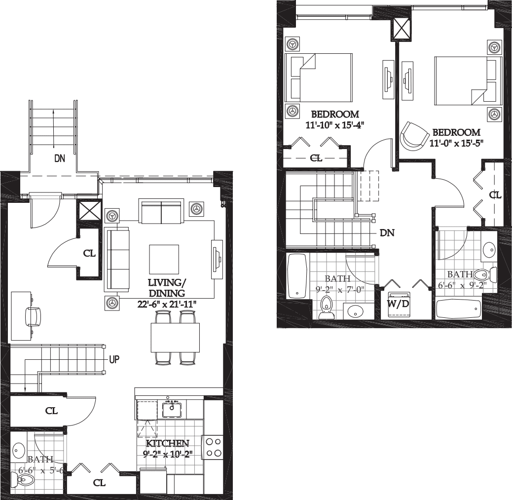 Asteria 2 BR Townhome