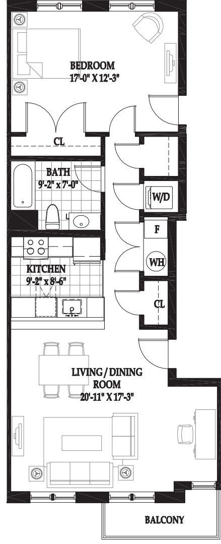 Villas One Bedroom with Alcove