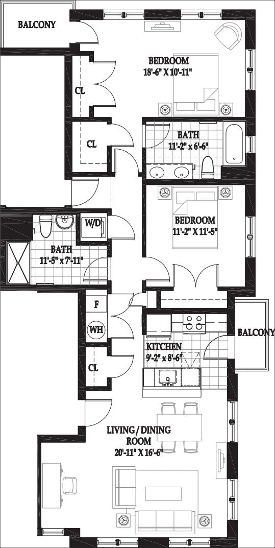 Villas Two Bedroom with Patio A