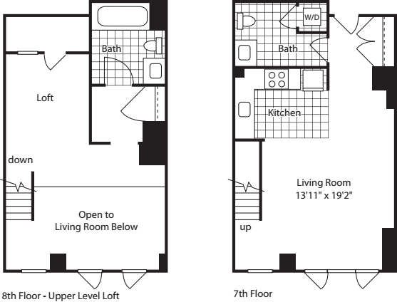 1 Bed Loft (North) - 854