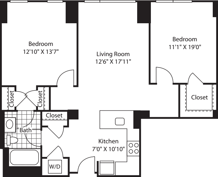 2 Bed (South) - 993