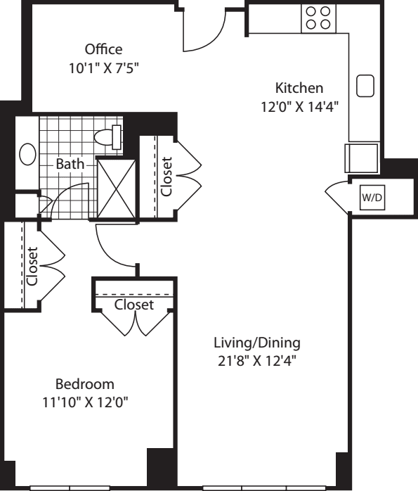 1 Bed (South) - 934