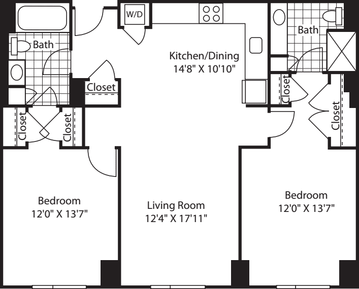 2 Bed (South) - 1125