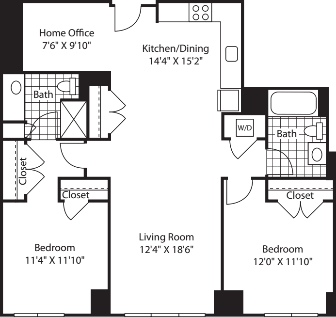 2 Bed (South) - 1214