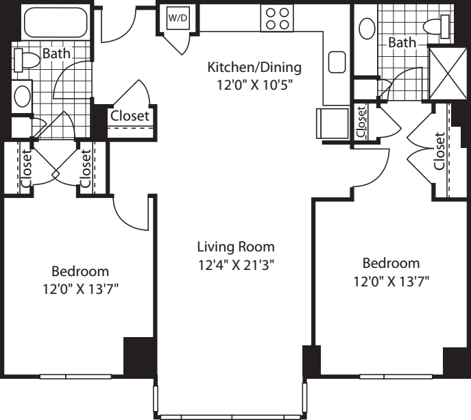 2 Bed (South) - 1164