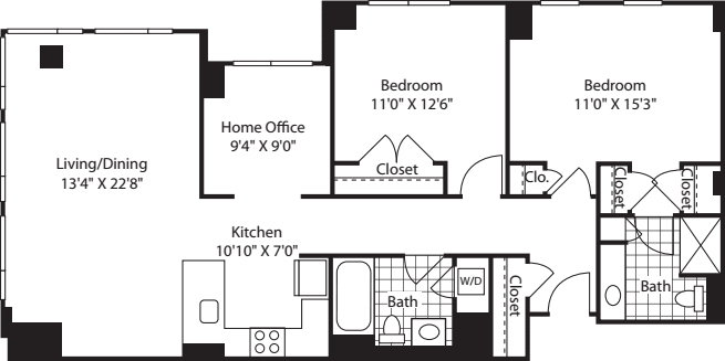 2 Bed (South) - 1274