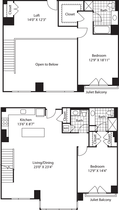 2 Bed (South) - 1809