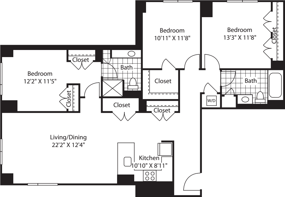 3 Bed (South) - 1490