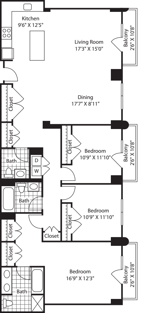 3 Bed A (South) - 1817