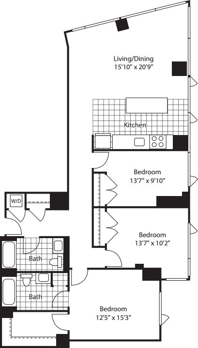 3 Bed (North) - 1480