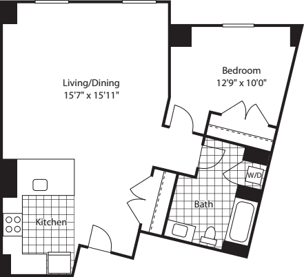 1 Bed (North) - 727