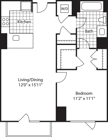 1 Bed (North)- 672