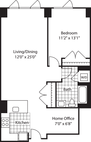 1 Bed (North)- 862