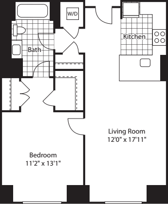 1 Bed (North)- 712