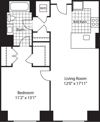 1 Bed (North)- 712