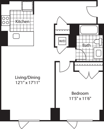 1 Bed (North)- 760