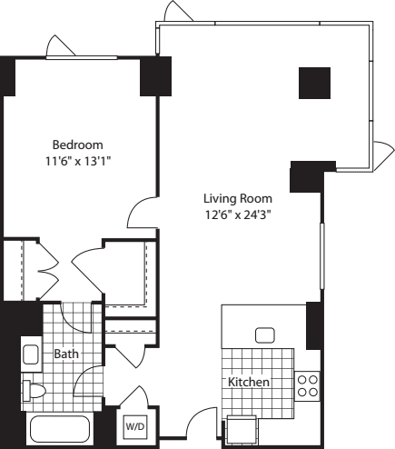 1 Bed (North)- 842
