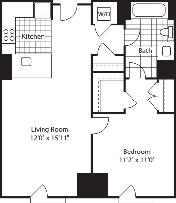 1 Bed (North)- 676