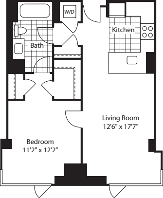 1 Bed (North)- 728
