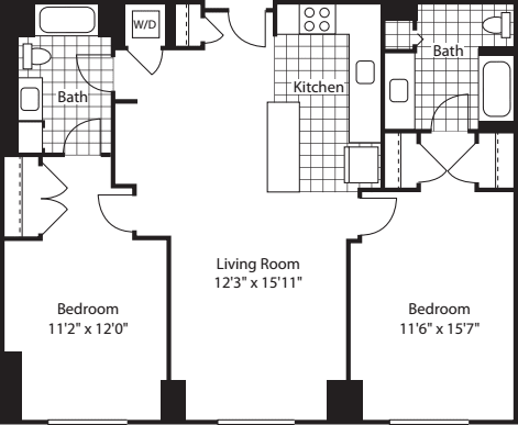 2 Bed (North)- 1077