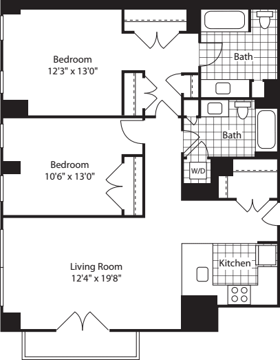 2 Bed (North)- 1175