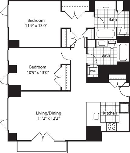 2 Bed (North)- 1159